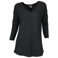 Natural Reflections Waffle V-Neck Tunic for Ladies