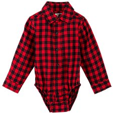 Bass Pro Shops Plaid Bodysuit for Babies