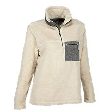 Natural Reflections 1/4-Zip Sherpa Pocket Pullover for Ladies