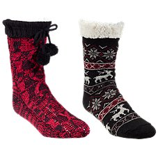 Natural Reflections Cozy Socks for Ladies 2-Pair Pack