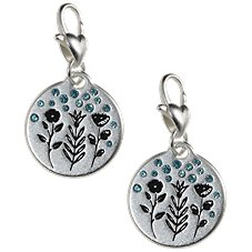 Amanda Blu Heartfelt Emotions Rainy Flowers Positivity Silver-Tone Medallion