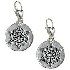 Amanda Blu Heartfelt Emotions Snowflake Unique Silver-Tone Medallion