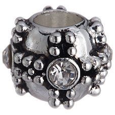 Amanda Blu Add-A-Bead Silver-Plated Bead with Crystals