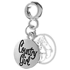 Amanda Blu Add-A-Bead Dangling Country Girl Bead