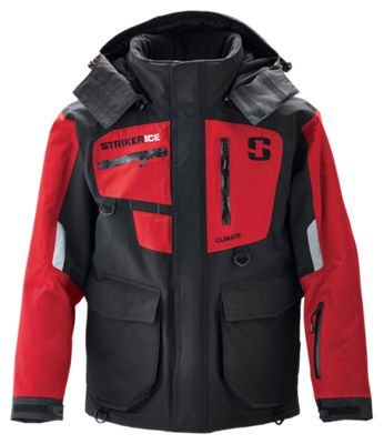 Striker Ice Climate Series Jacket for Men - Black/Red - XL