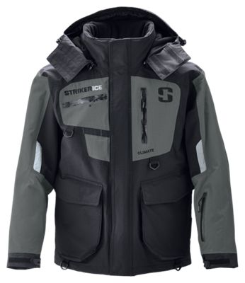Striker Ice Climate Series Jacket for Men - Black/Gray - XL