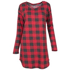 Natural Reflections Buffalo Plaid Sleep Shirt for Ladies