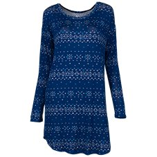 Natural Reflections Fair Isle Knit Sleep Dress for Ladies