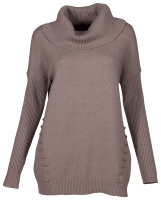 outlet store 83989 5a2a7 Bob Timberlake Cowl Neck Sweater Tunic for Ladies Iron M