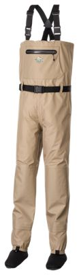 White River Fly Shop Classic Stocking-Foot Waders for Men – Tan – L