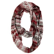 Quagga Fired Up Cinched Infinity Scarf for Ladies