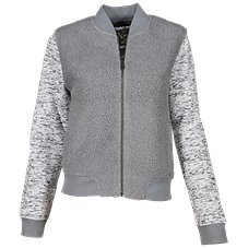 e0e20ce2dd2 Natural Reflections Sweater Fleece Bomber Jacket for Ladies