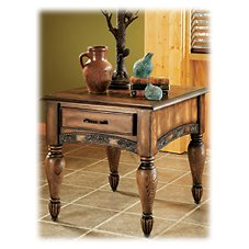 Modern of Marshfield Pine Cone Lodge Side Table
