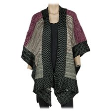 Quagga Patched Zigzag Ruana for Ladies