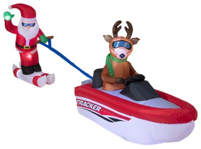 Bass Pro Shops 14 Water Ski Santa Inflatable