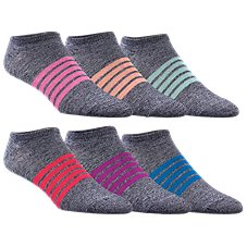 Natural Reflections Tie Dye No Show Socks - 6-Pair Pack