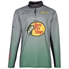 Bass Pro Shops 1/4-Zip Fishing Jersey Pullover for Men