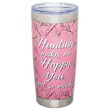 PURE Drinkware Hunting Makes Me Happy Stainless Steel Tumbler