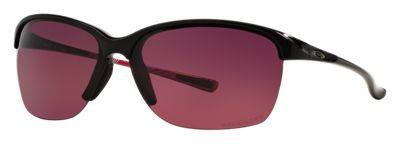 Oakley Unstoppable OO9191 Polarized Sunglasses for Ladies - Polished Black/Rose Gradient Polarized - Standard