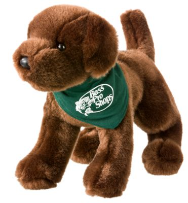 Bass Pro Shops Chocolate Lab With Logo Plush Stuffed Toy Bass Pro