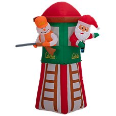 Cabela's 7' Santa and Snowman in Deer Blind Inflatable
