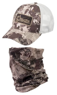 World Wide Sportsman Logo Cap And Sun Stopper Gaiter Combo Truetimber Viper Western