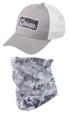 World Wide Sportsman Logo Cap And Sun Stopper Gaiter Combo Truetimber Viper Snow