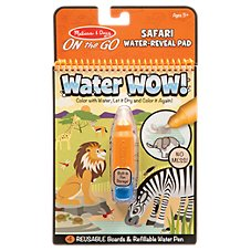 Melissa & Doug Water WOW Safari On-The-Go Water-Reveal Pad