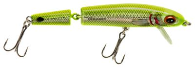 Bomber Jointed Wake Minnow - Chartreuse Herring - 4-1/2''
