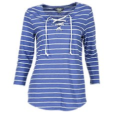 Natural Reflections Lace-Up Top for Ladies