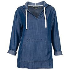 Natural Reflections Chambray Hoodie for Ladies