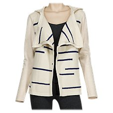 Natural Reflections Open-Front Hooded Cardigan for Ladies