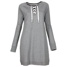 Natural Reflections Lace-Up Sweatshirt Dress for Ladies