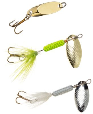 10 of each French Spinner Blades Brass and Nickel Fishing Lures  20 assorted