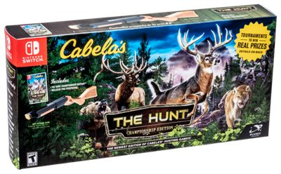 Cabela S The Hunt Championship Edition Hunting Game Bundle For Nintendo Switch Bass Pro Shops