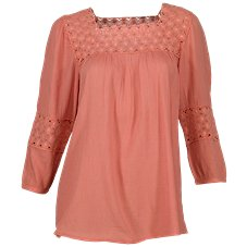 Bob Timberlake Crochet Inset Blouse for Ladies