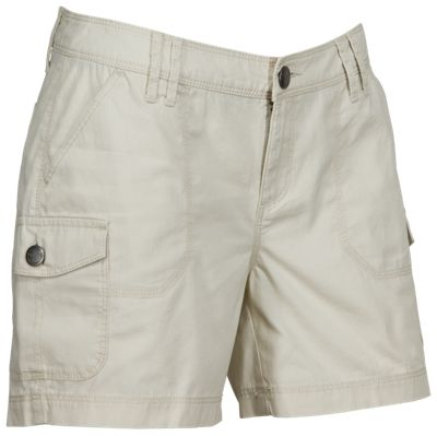 Natural Reflections Canvas Cargo Shorts for Ladies - Oatmeal - 14