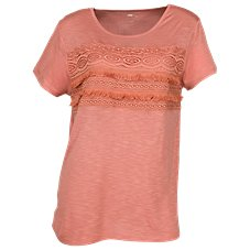 Bob Timberlake Lace-Front T-Shirt for Ladies