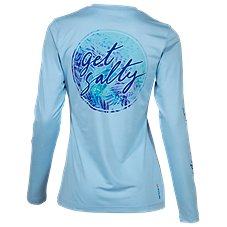 Salt Life Get Salty Tropical Tango Long-Sleeve SLX Shirt for Ladies