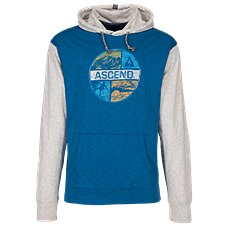 Ascend Graphic Slub Jersey Hoodie for Men