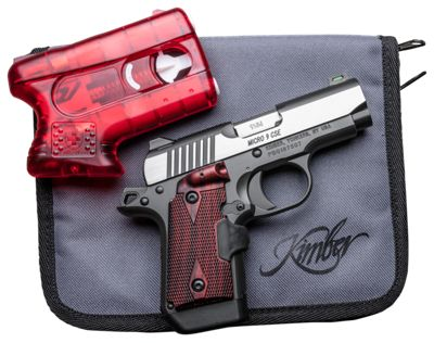 Kimber Micro 9 Semi-Auto Pistol with Crimson Trace Lasergrips and Pepper  Blaster II Package