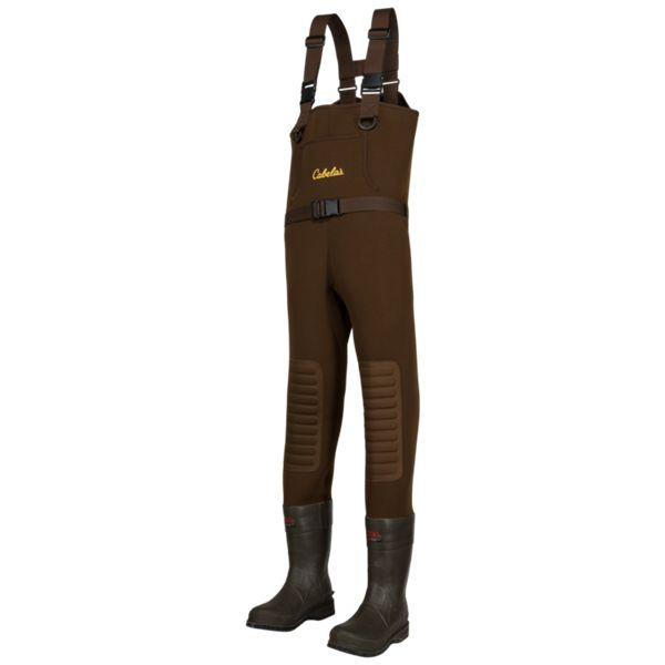 Cabela's Classic Series II Brown Neoprene Felt Sole Boot-Foot Waders for Men - Men's 13