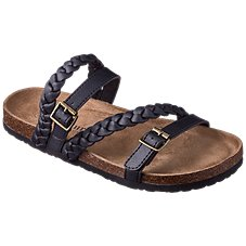 f17aa8c10b7f7a Natural Reflections Sarafina Sandals for Ladies. Black  Brown