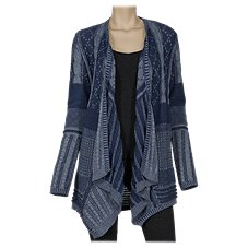 Natural Reflections Mixed Pattern Cardigan for Ladies