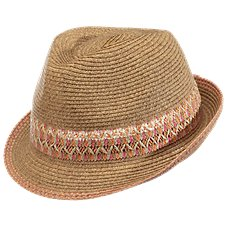 Dorfman Pacific Multicolor Fedora for Ladies