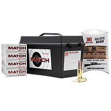 Hornady ELD Match Rifle Ammo with Ammo Can and Ballistic Band Image