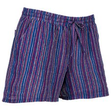 Natural Reflections Striped Pull-On Shorts for Ladies