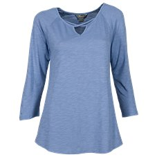 Natural Reflections Cross-Neck Tee for Ladies