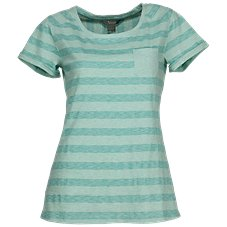 Natural Reflections Striped Pocket Tee for Ladies