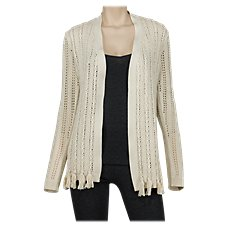 Natural Reflections Braided Trim Cardigan for Ladies